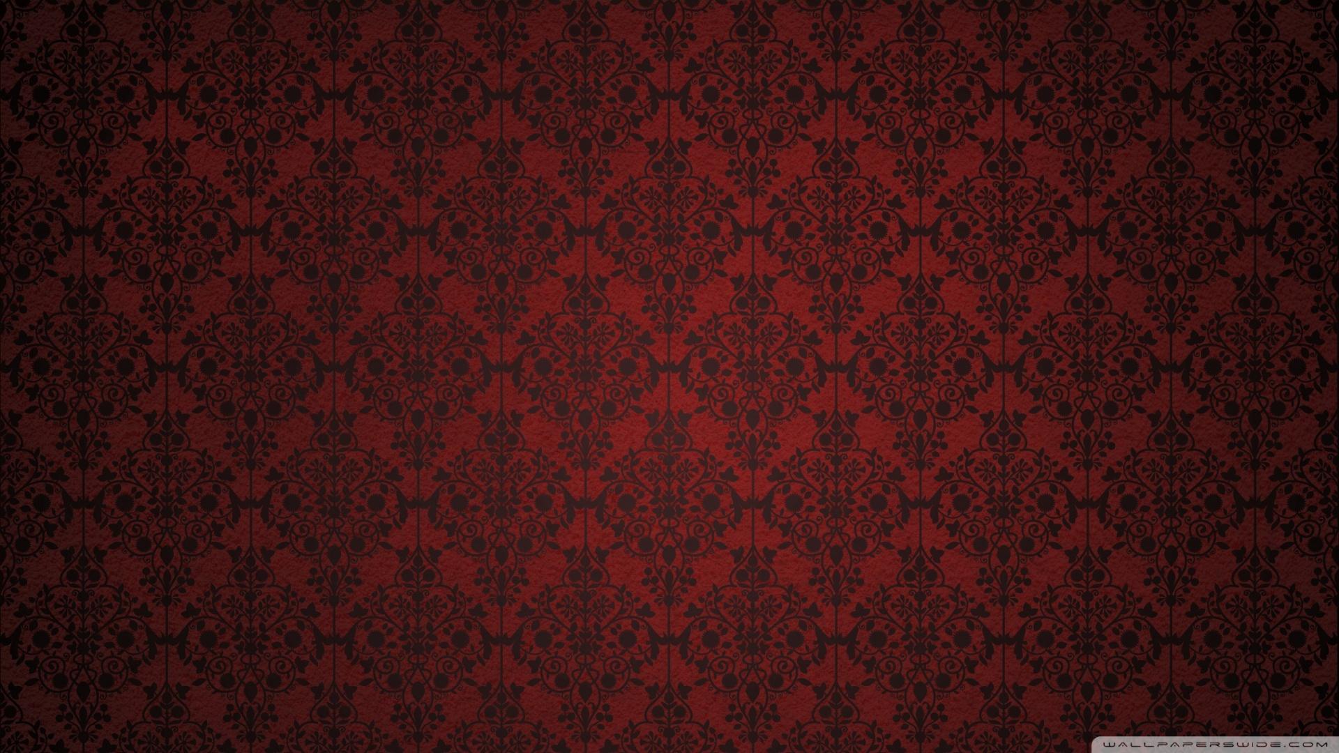Red Damask Wallpaper 1920x1080