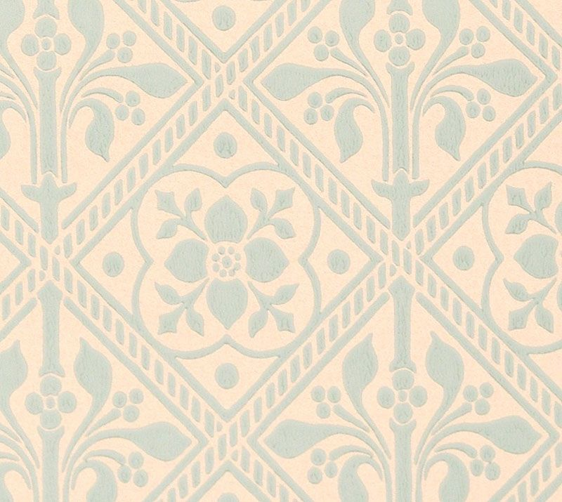 Trellis Wallpaper   Gummer Blue   Historical wallpapers collection 800x715