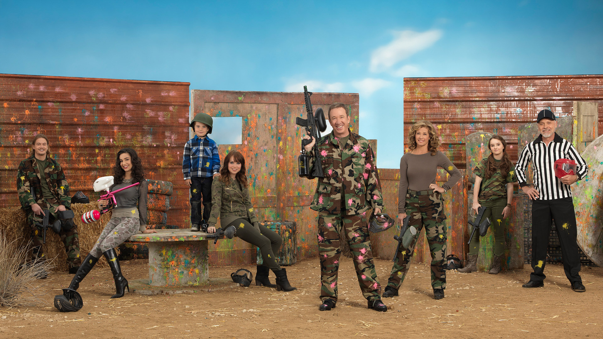 Last Man Standing Cast   Paintball HD Wallpaper Background Image 1920x1080