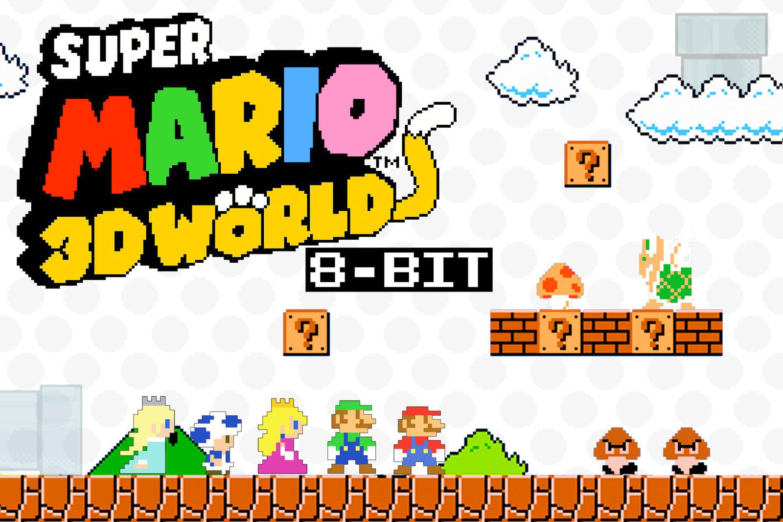8 Bit Mario Background download