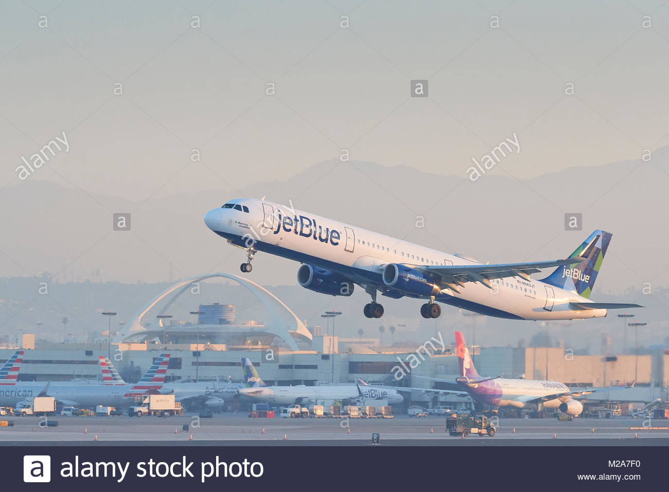 jetBlue Airways Airbus A321 Jet Airliner Taking Off From Runway 25 1300x956