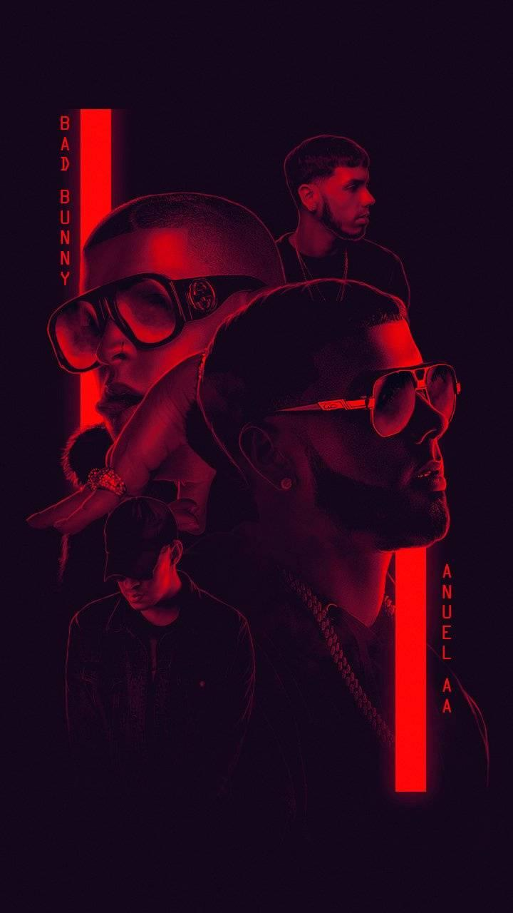 Anuel AA And Bad Bunny Wallpapers 720x1280