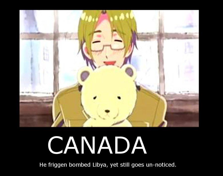 Hetalia   Canada vs Libya by DocCarpontair 900x711