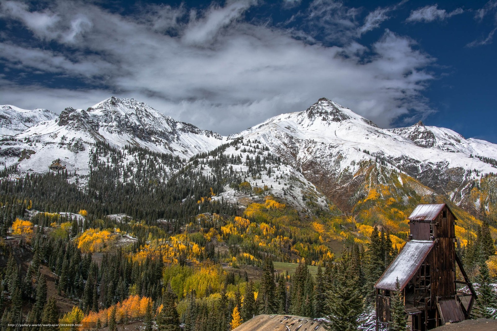 Download wallpaper Red Mountain Mining District Ouray Colorado 1600x1066