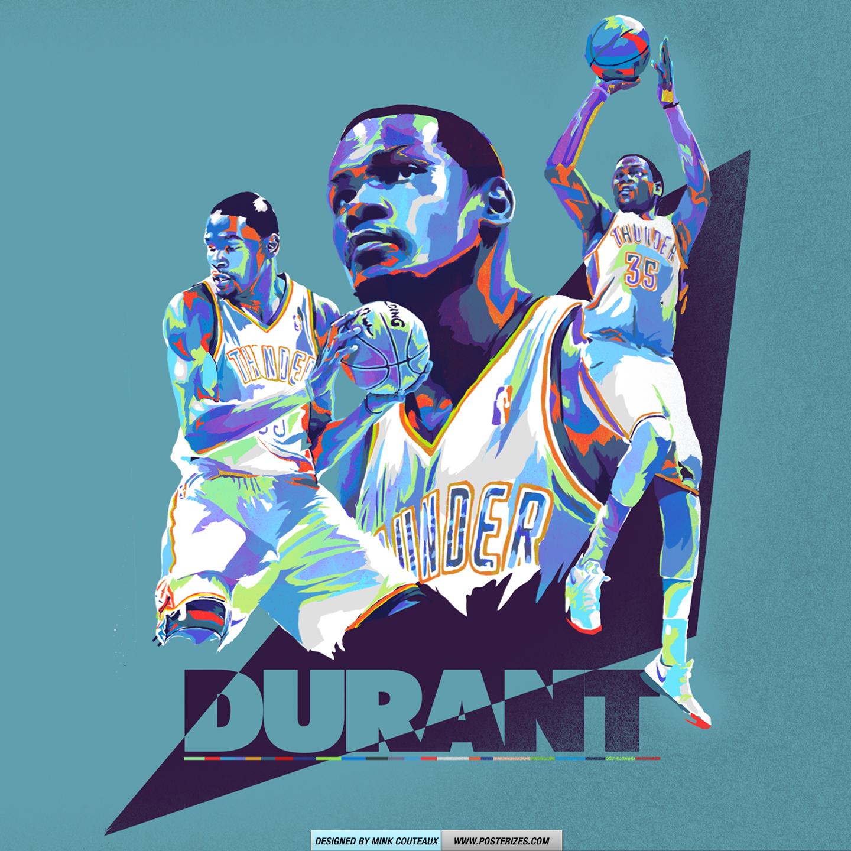 Kevin Durant Prodigy OKC Thunder Wallpaper Posterizes NBA 1440x1440