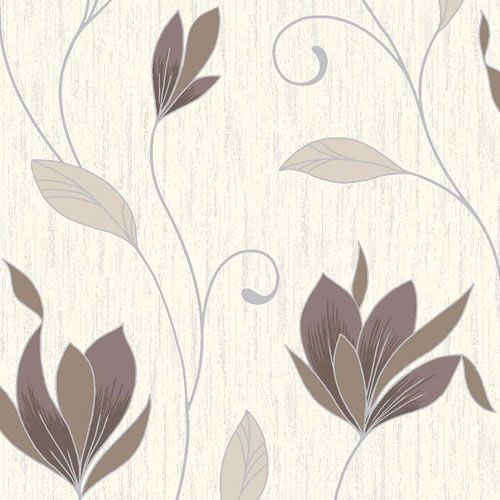 chocolate brown silver glitter m0780 synergy floral vymura wallpaper 500x500
