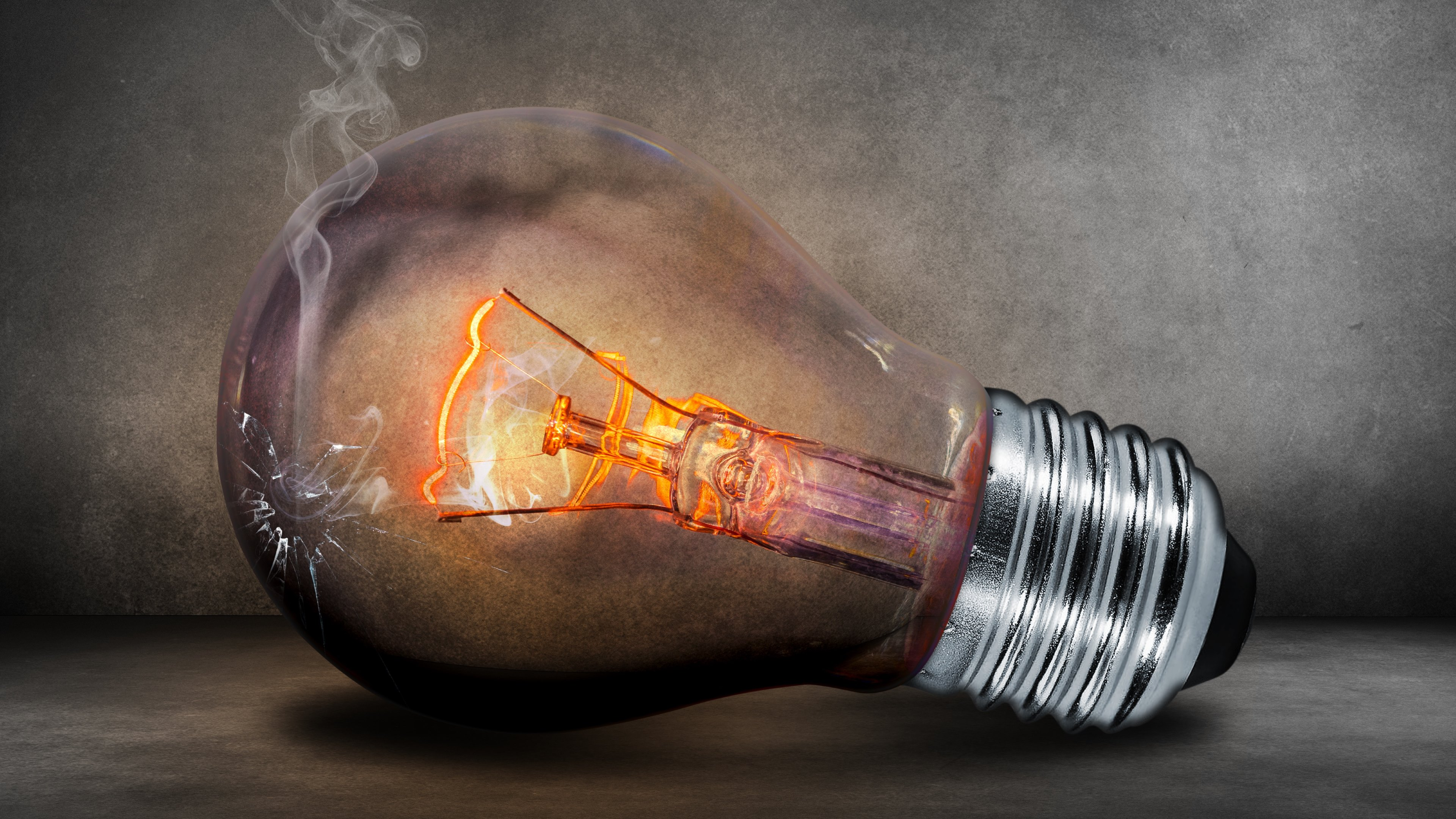 Light Bulb Glow Creative Photoshop Wallpapers HD Wallpapers 3840x2160