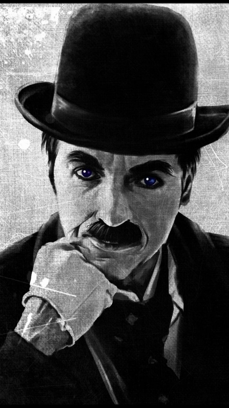 Wallpaper Charlie chaplin Comedian Sculpture HD Picture Image in 750x1334