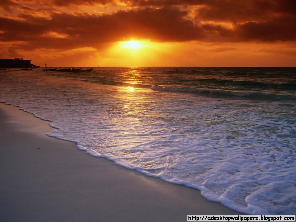 Sunset Beach Desktop Wallpapers 1024x768