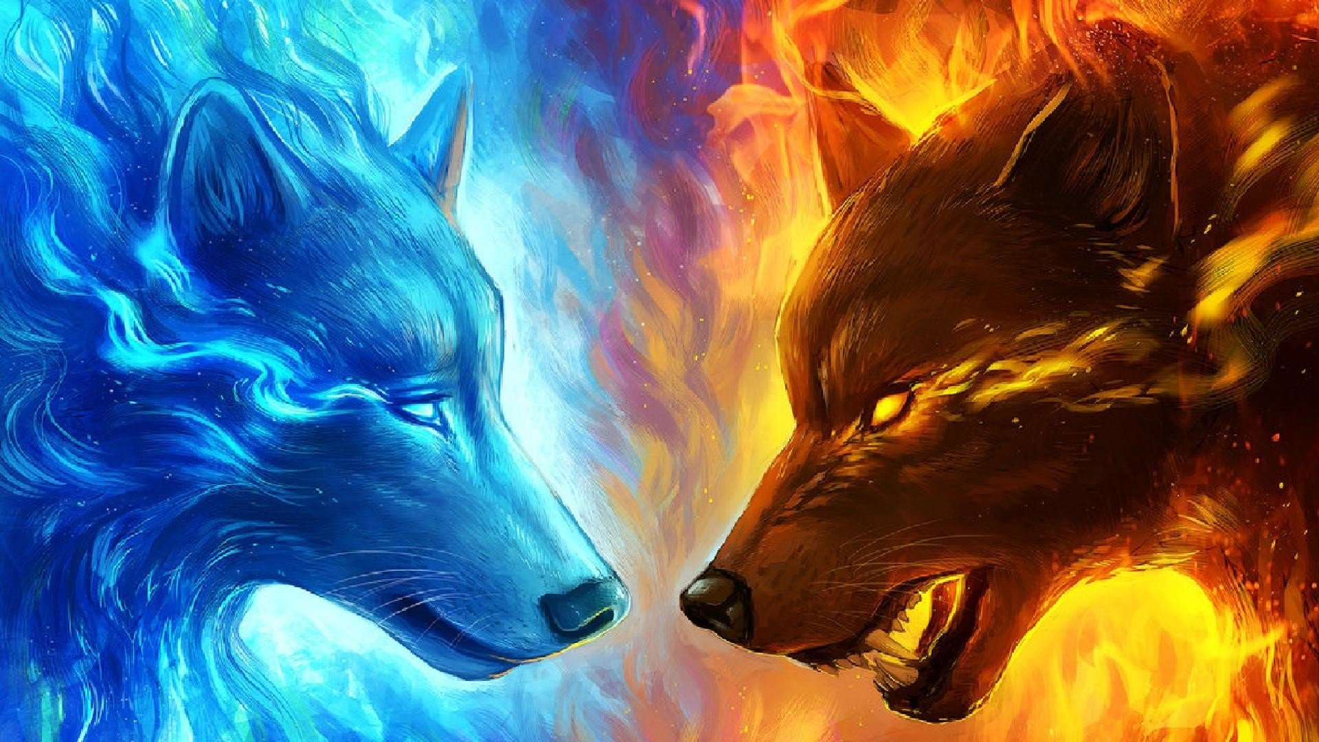 66 Fire Wolf Wallpapers on WallpaperPlay 1920x1080