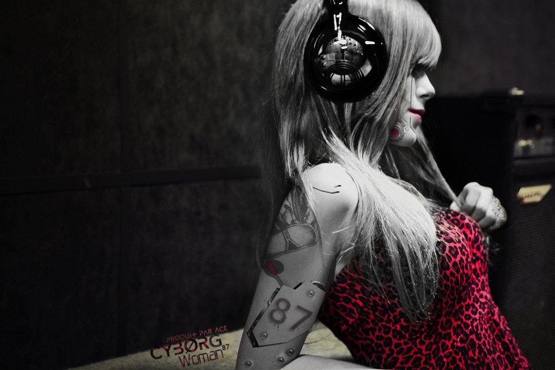 Wallpaper Cyborg Girl by AceGraph 1095x730