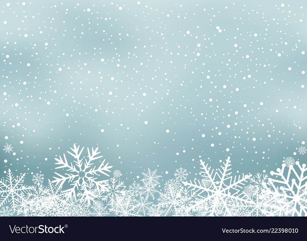 Winter holiday background with snow Royalty Vector 1000x787