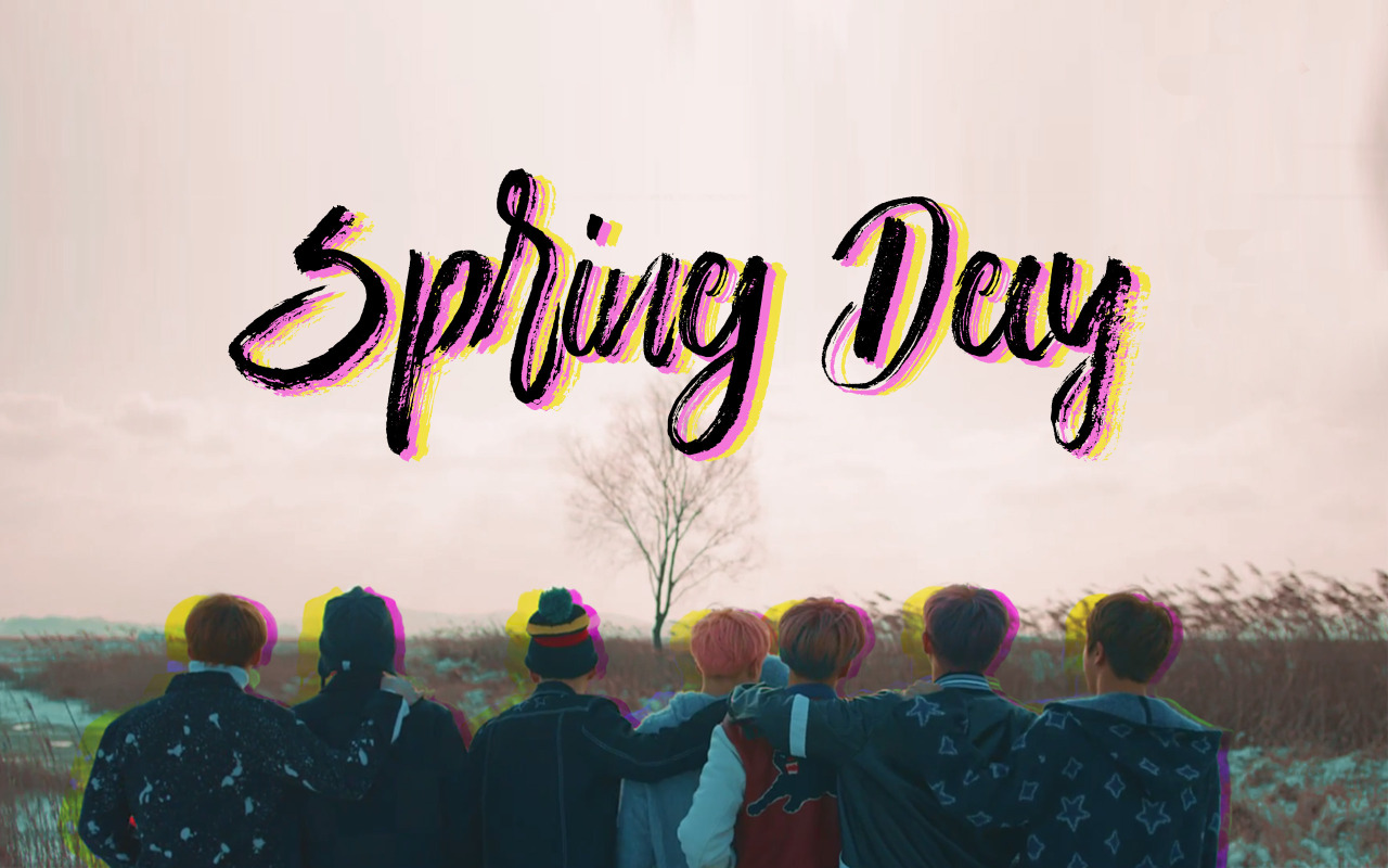 my liminal space BTS Spring Day Desktop Wallpaper Like 1280x800