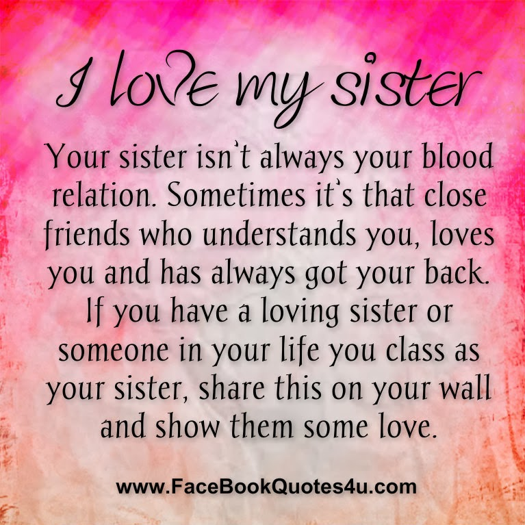 FaceBook Quotes I love my sister 767x767