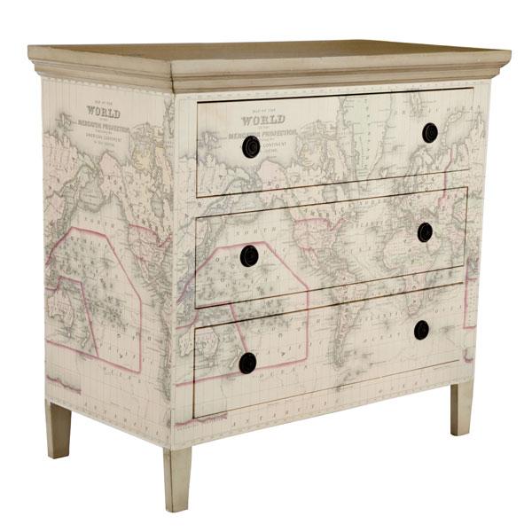 Decoupage Map Wallpaper Dressers Kids Map Decor 600x600