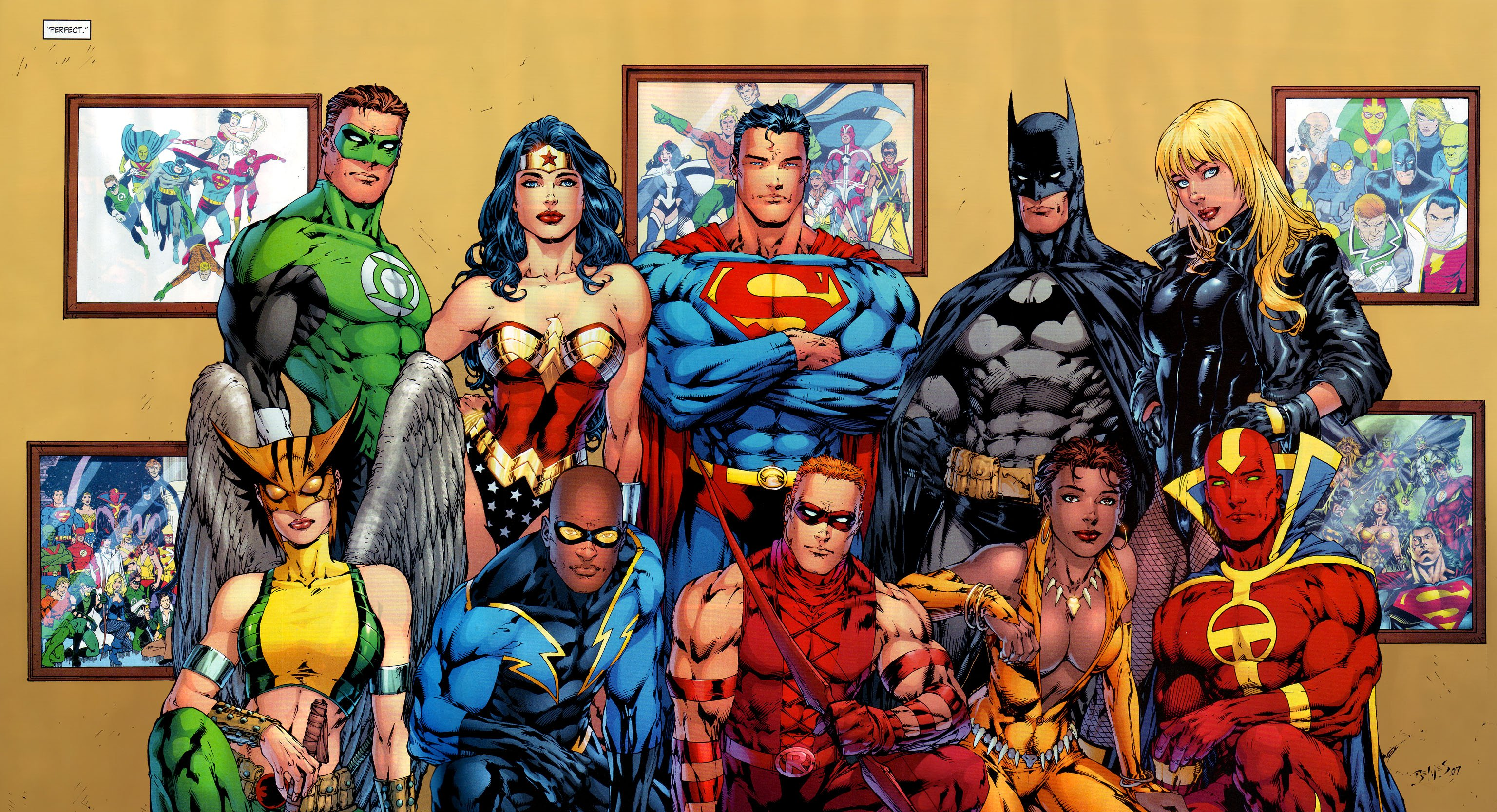 dc comics heroes wallpaper 3072x1667