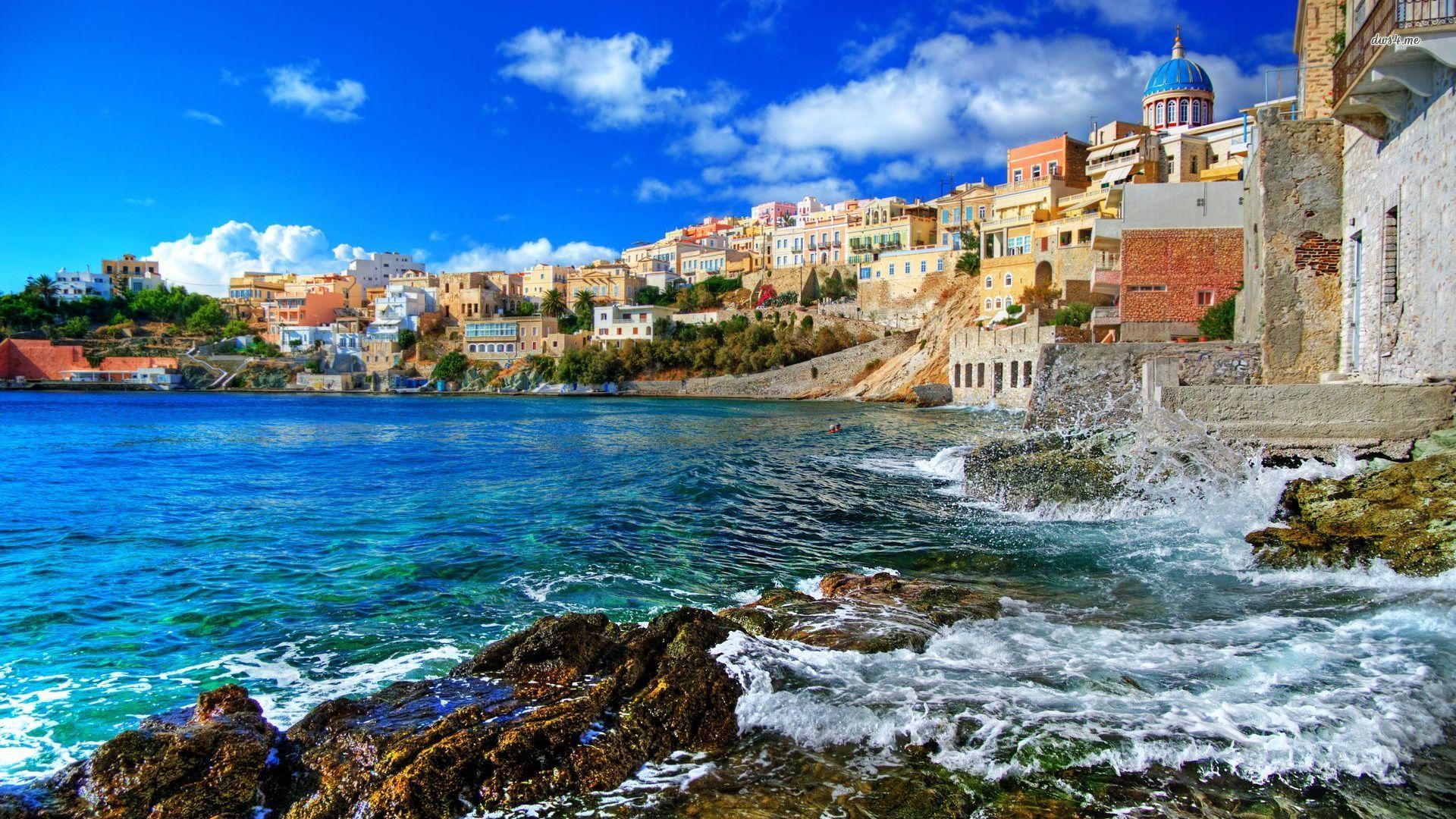 Greece Beach Wallpaper: Screensavers And Wallpaper Greece