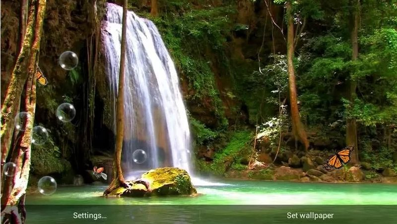 Waterfall Live Wallpaper for Android Phones 800x452