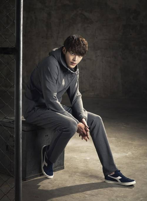 Rising star Kim Woo Bin gets sporty for DIADORA 500x683