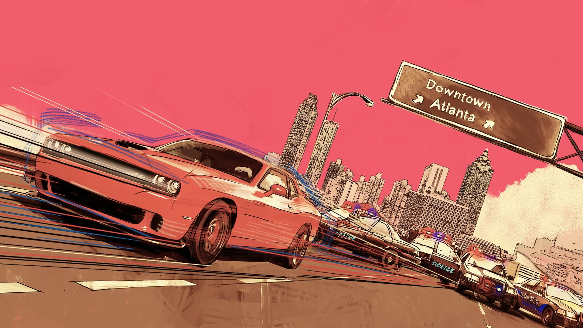 If you liked Baby Driver heres a dope wallpaper for you 1920x1080