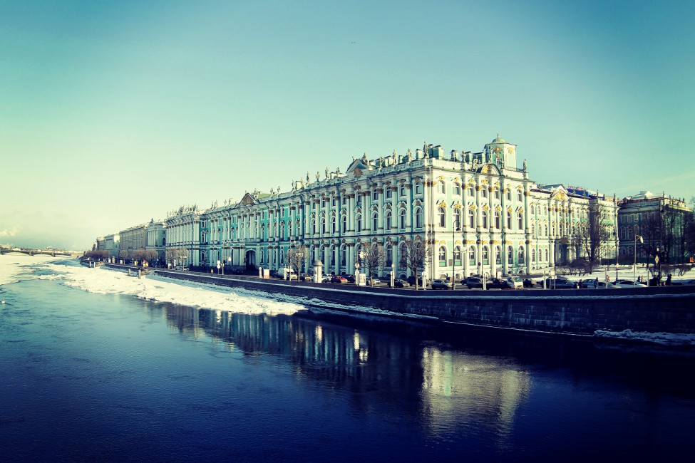 Saint Petersburg Hermitage Waterfront   Stock Photos Images 975x650