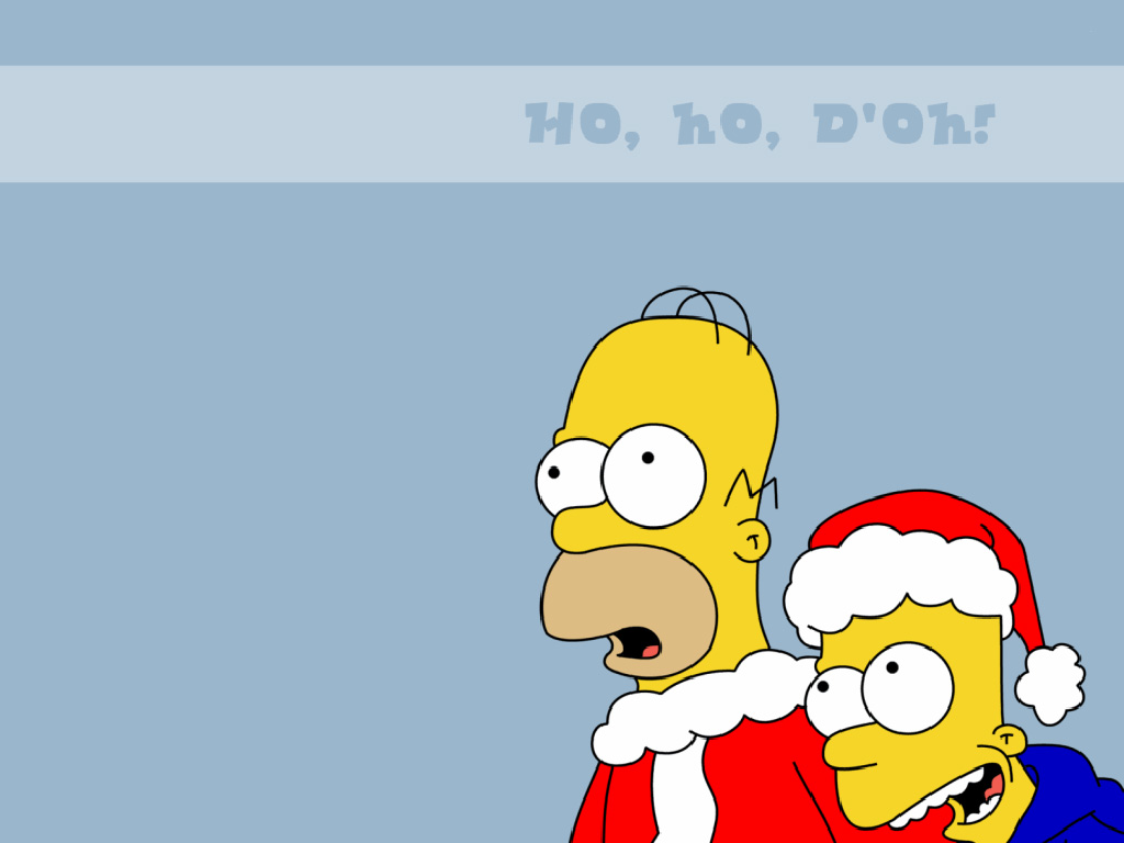 My Wallpapers   Cartoons Wallpaper Simpsons   Christmas 1024x768