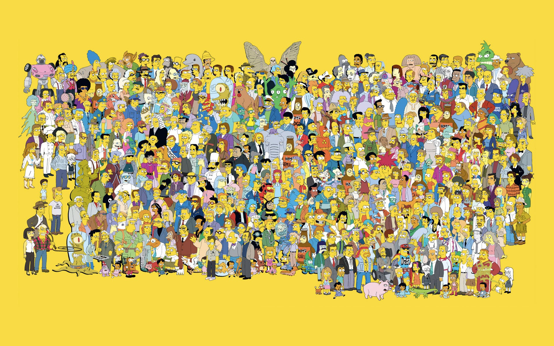 wallpapers dibujos simpsons aniversario simpson fondo 1920x1200
