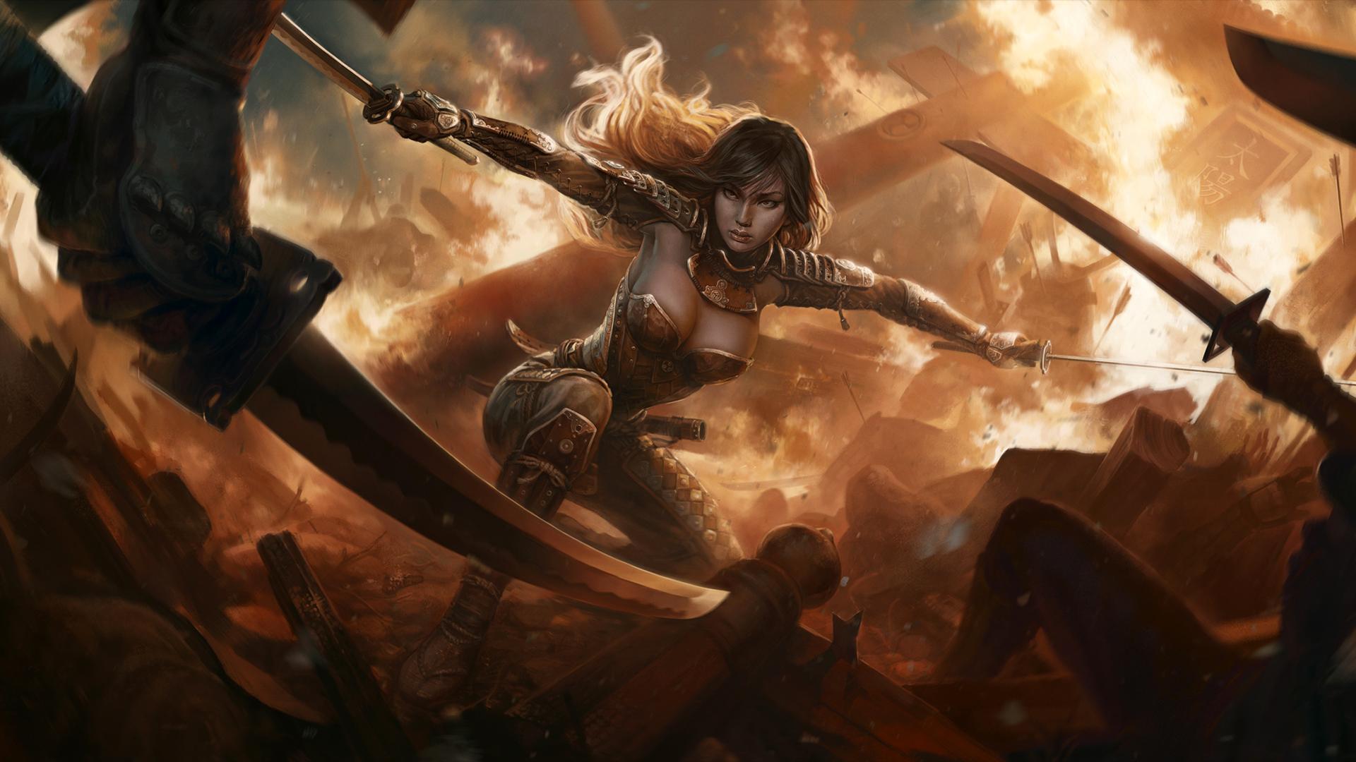 fantasy warrior girl