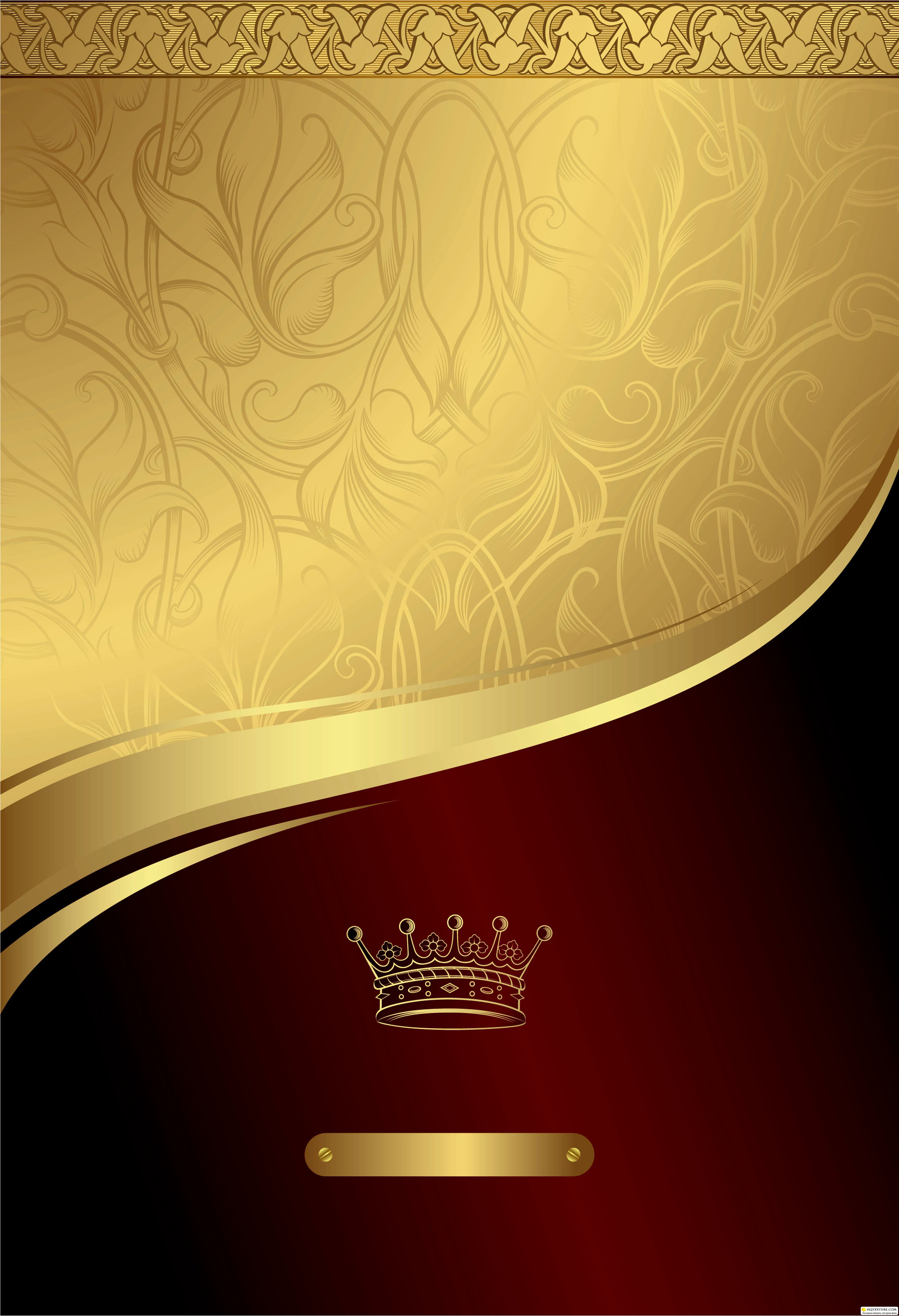 Stock Gold and Red Floral Royal Background 5000x7318