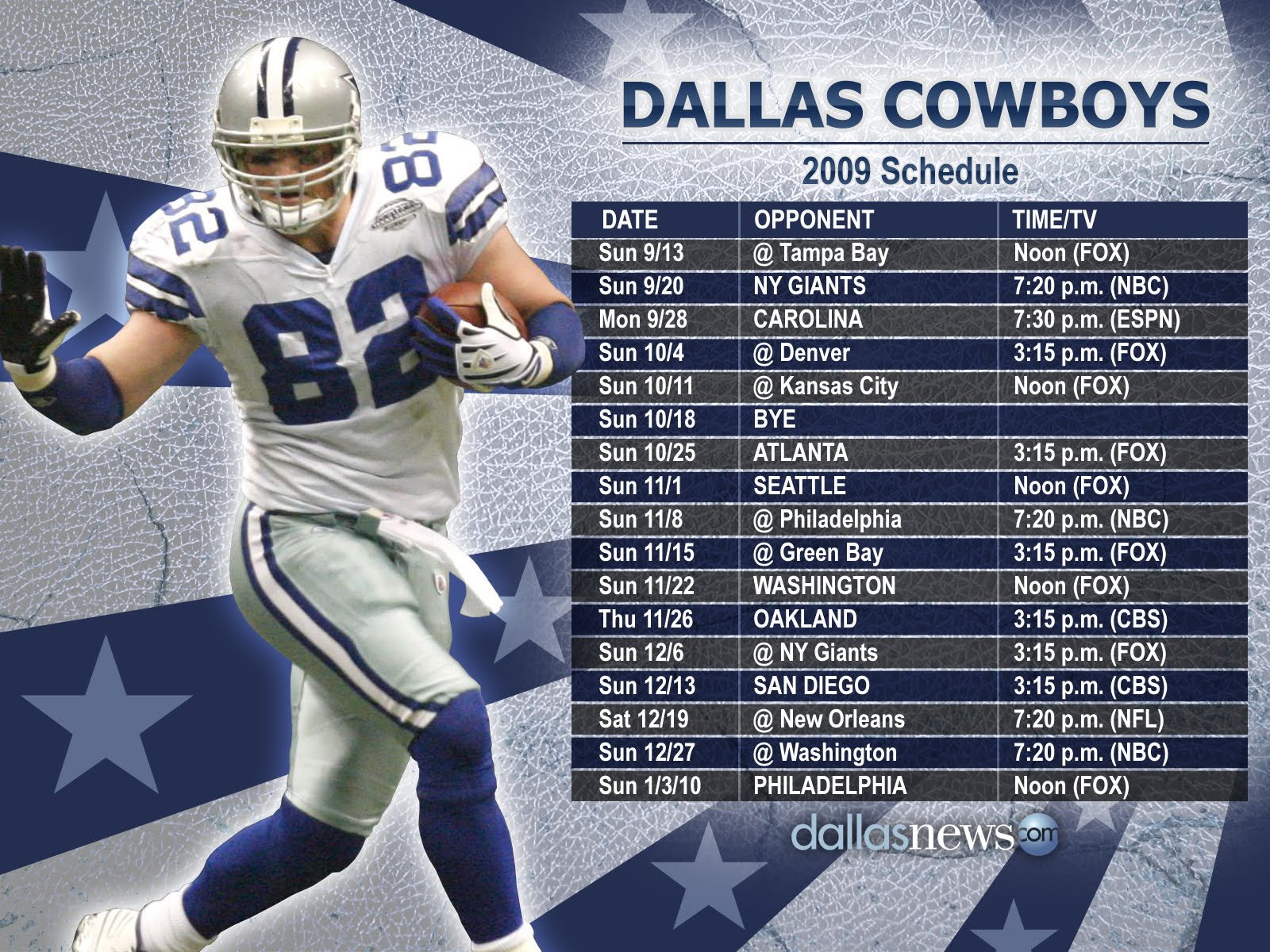 dallas cowboys schedule wallpaper 1600x1200