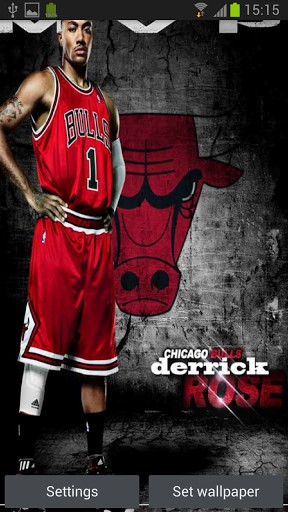 Derrick rose wallpaper hd wallpapersafari derrick rose hd live wallpaper app for android by unlimited fun with voltagebd Image collections