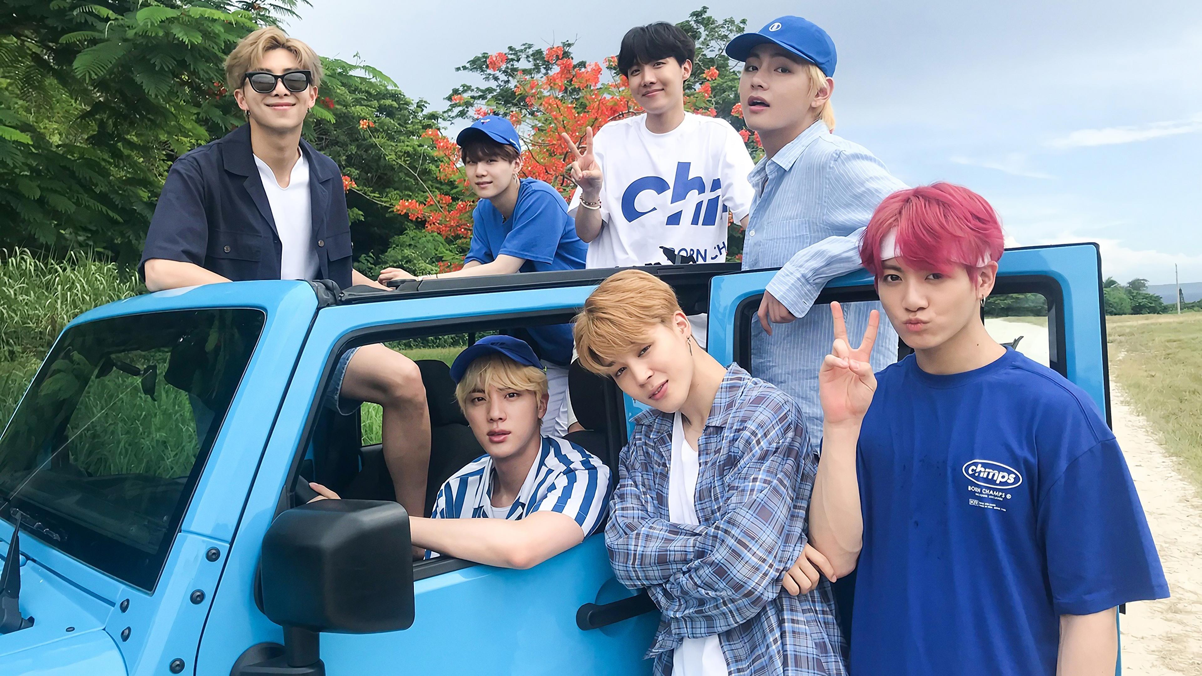 BTS Group Members Jungkook Jimin V Jin RM J Hope Suga 4K 22026 3840x2160