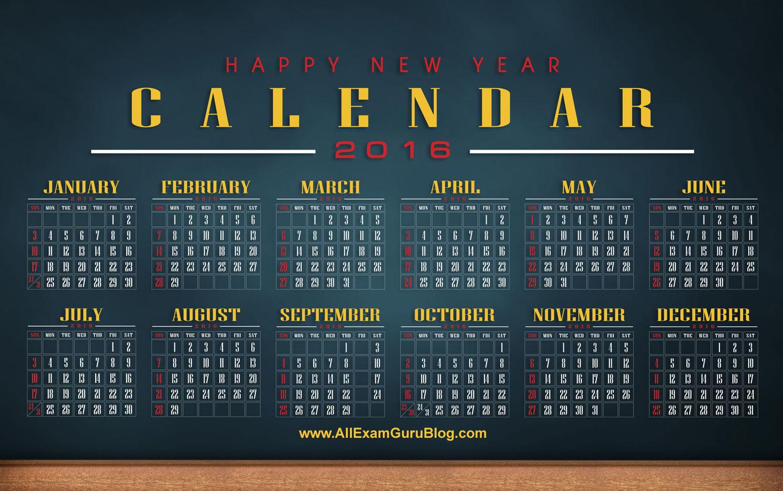 2016 Year Calendar Wallpaper Download 2016 Calendar by Month 1440x903