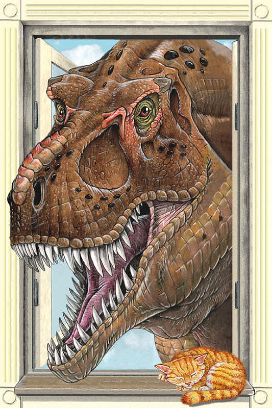 a305 t rex window what could be worse than a tyrannosaur rex peering 533x800