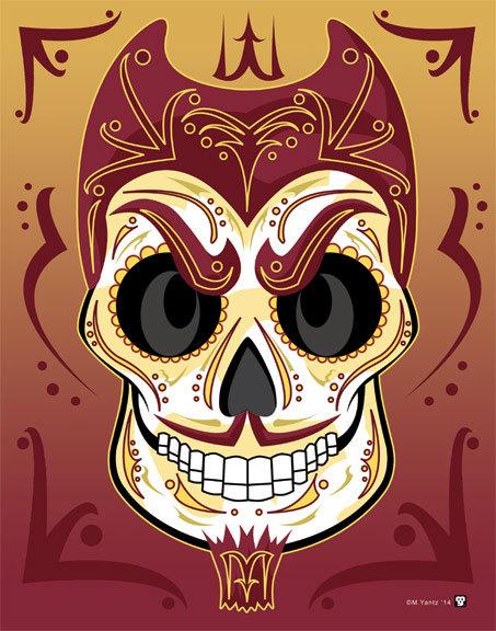 Home Artwork Arizona State University Sun Devils Sugar Skull 11 by 453x576