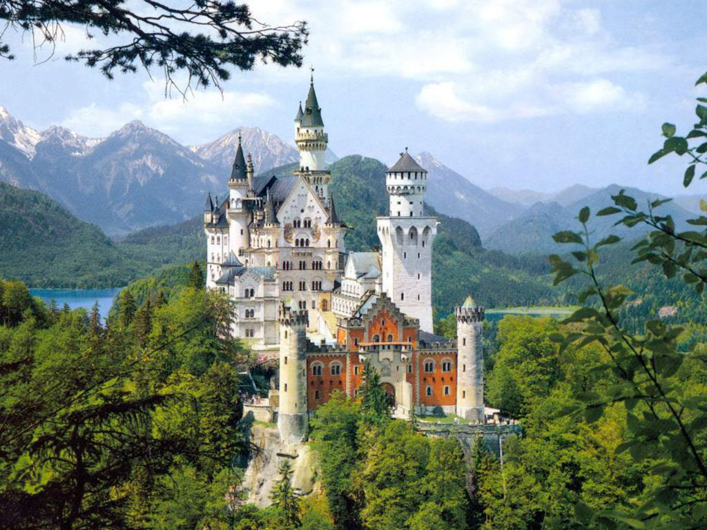 castle in Germany 1 computer desktop wallpapers pictures images 1024x768