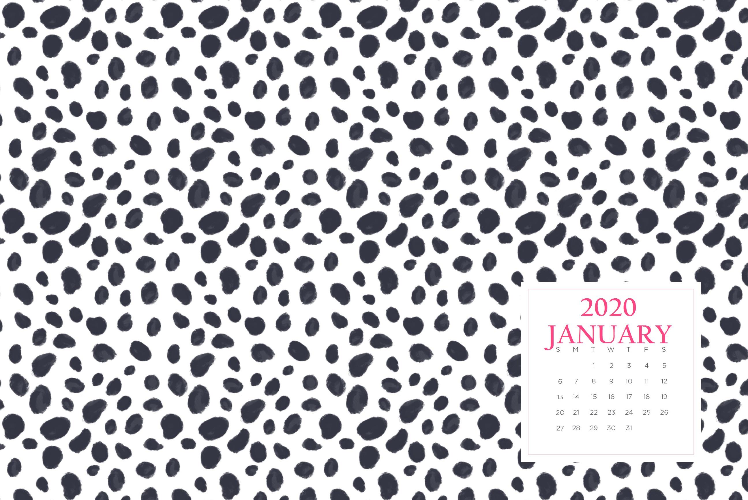 January 2020 Wallpaper Calendar Calendar 2019 2593x1733