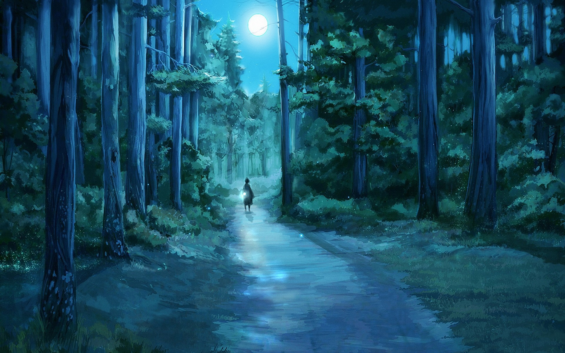 The forest of moonlight wallpapers and images   wallpapers pictures 1920x1200