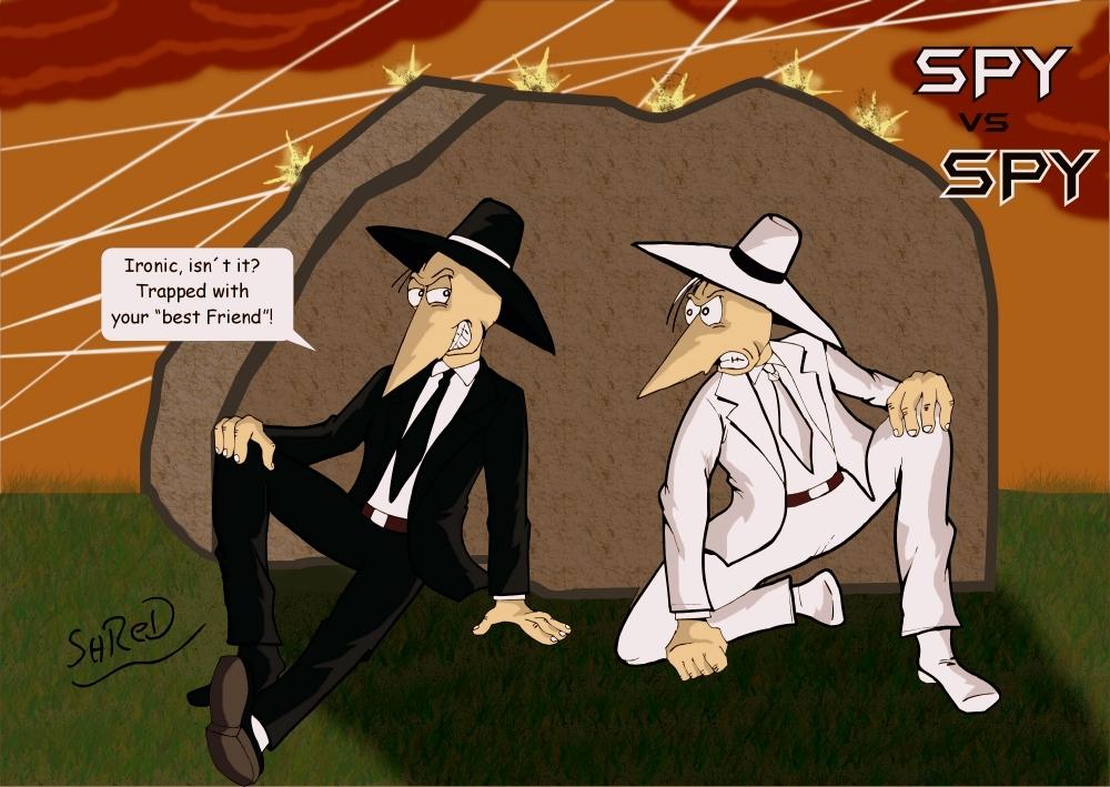 Spy vs Spy Gunfire by ShredSmiler 1000x709