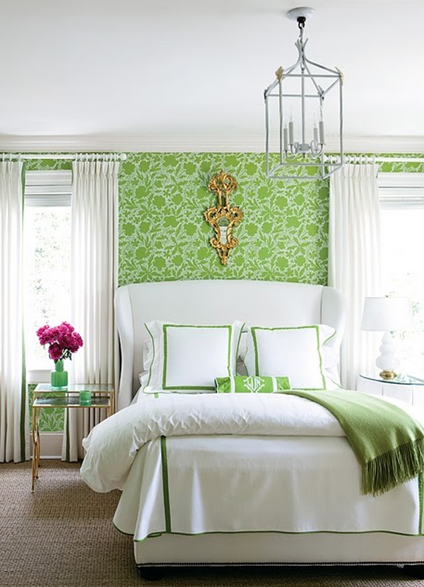 Gallery of 20 Floral Bedroom Ideas with Wallpaper Theme 600x830
