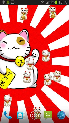 Japanese Good Luck Cat Wallpaper View bigger   maneki neko live 288x512