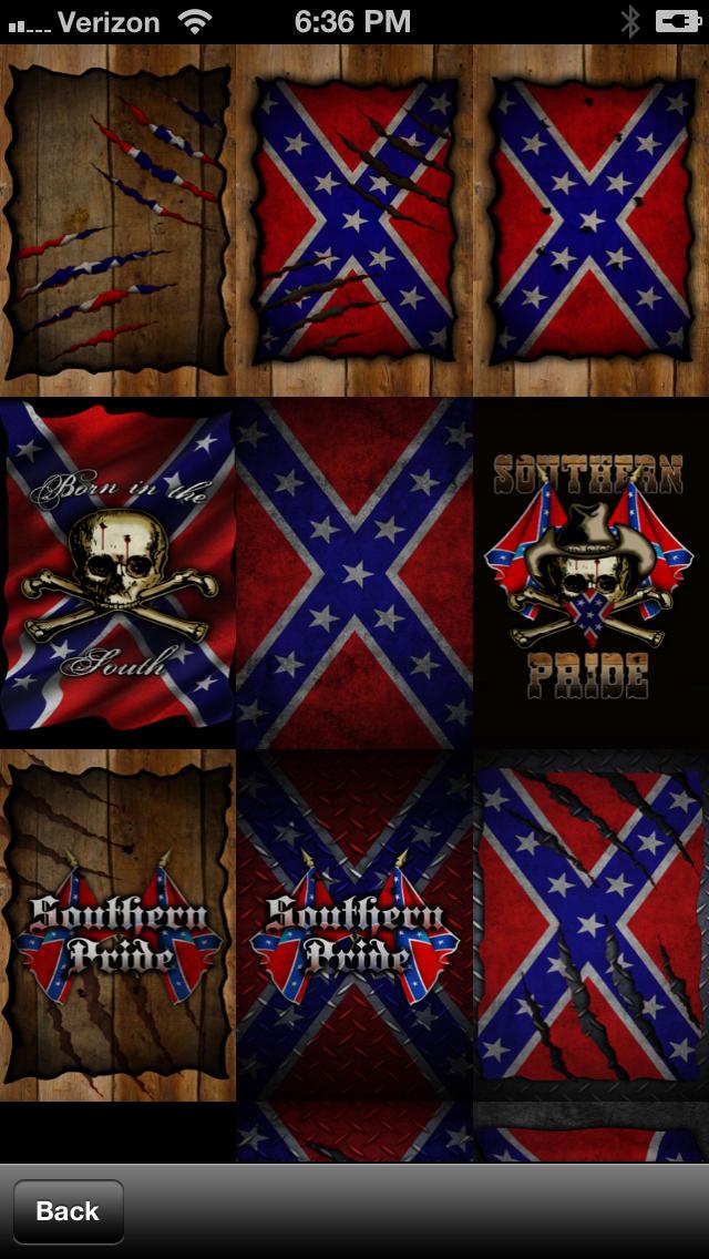 Southern Pride Rebel Flag WallpaperLifestyle   iPhoneiPad App 640x1136