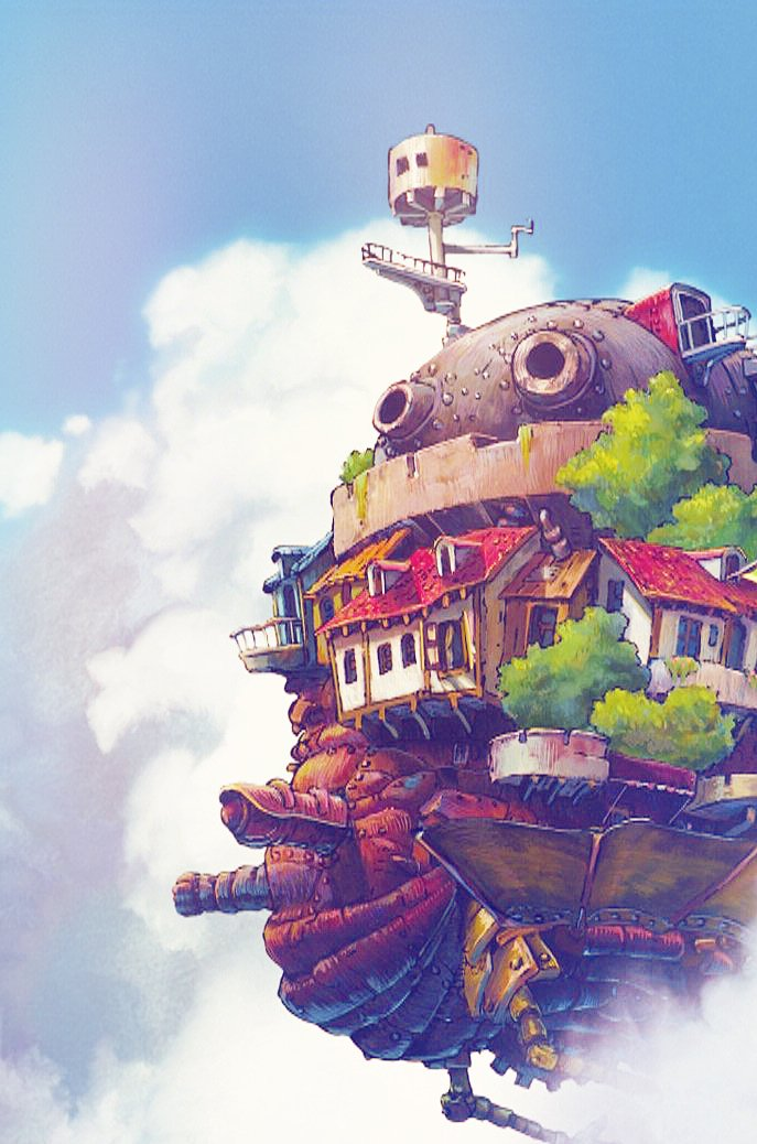 Howls Moving Castle Phone Wallpaper Main