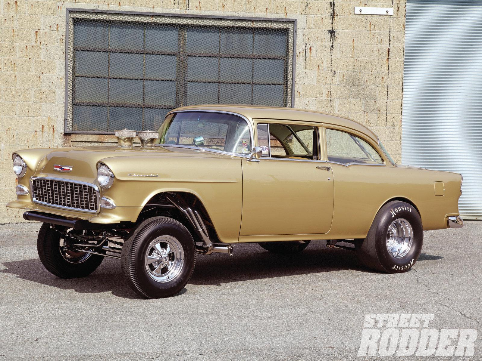 1955 Chevy Gasser classic cars hot rod drag racing wallpaper 1600x1200