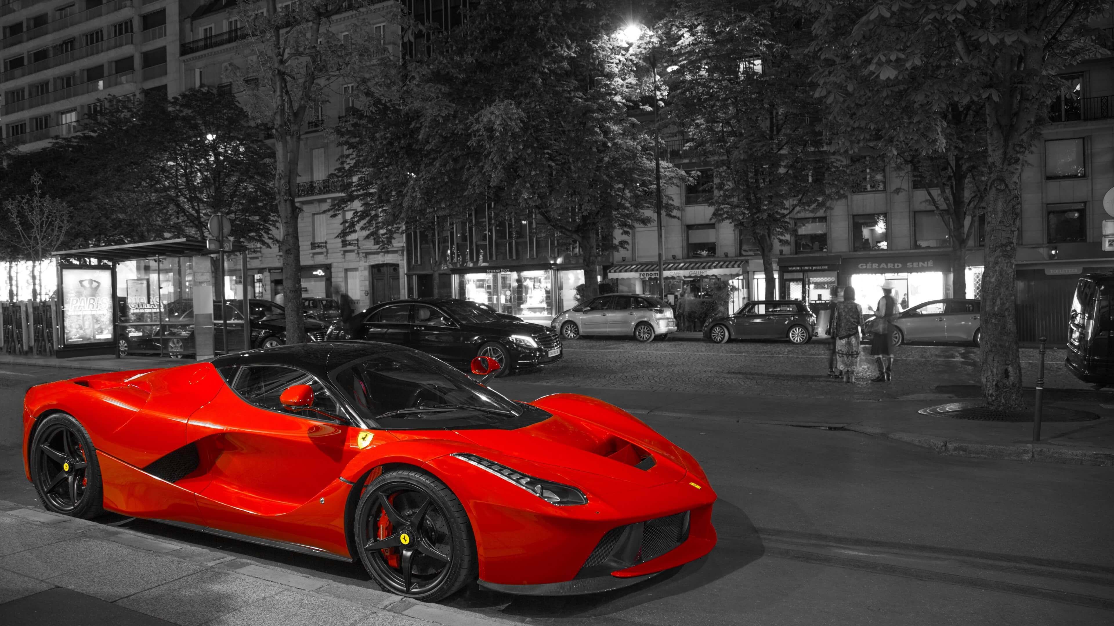 Ferrari LaFerrari Red Supercar 4K Wallpaper 3840x2160