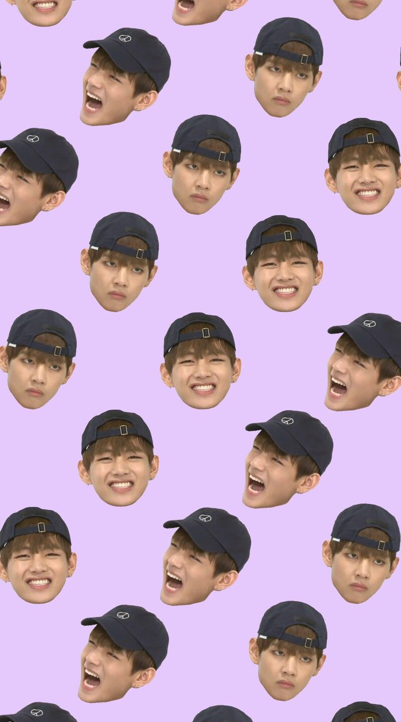 BTS Weekly Idol V Derp Face Wallpaper bts phone backgrounds 800x1440