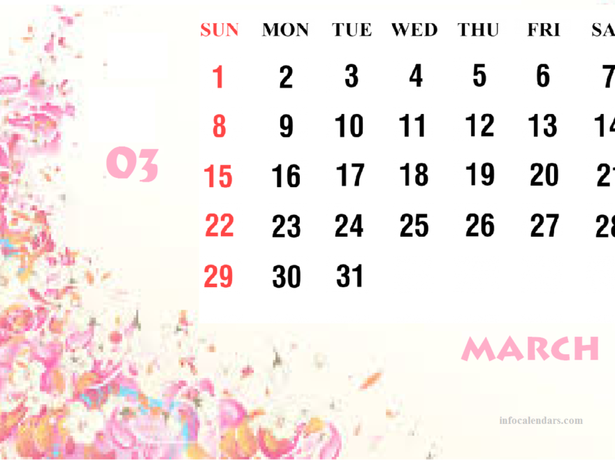 Cute March 2020 Calendar Helps You In Professional Work 880x660