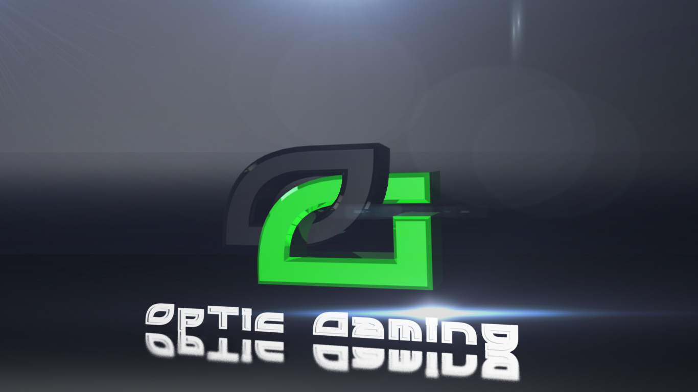 Optic Gaming Logo Wallpaper Optic gaming desktop bg by 1366x768