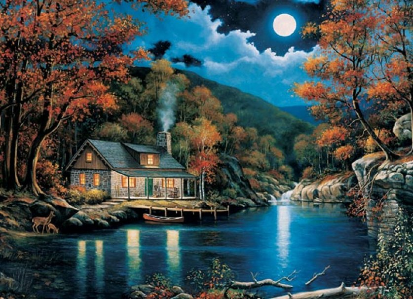 CABIN BY THE LAKE wallpaper   ForWallpapercom 837x606