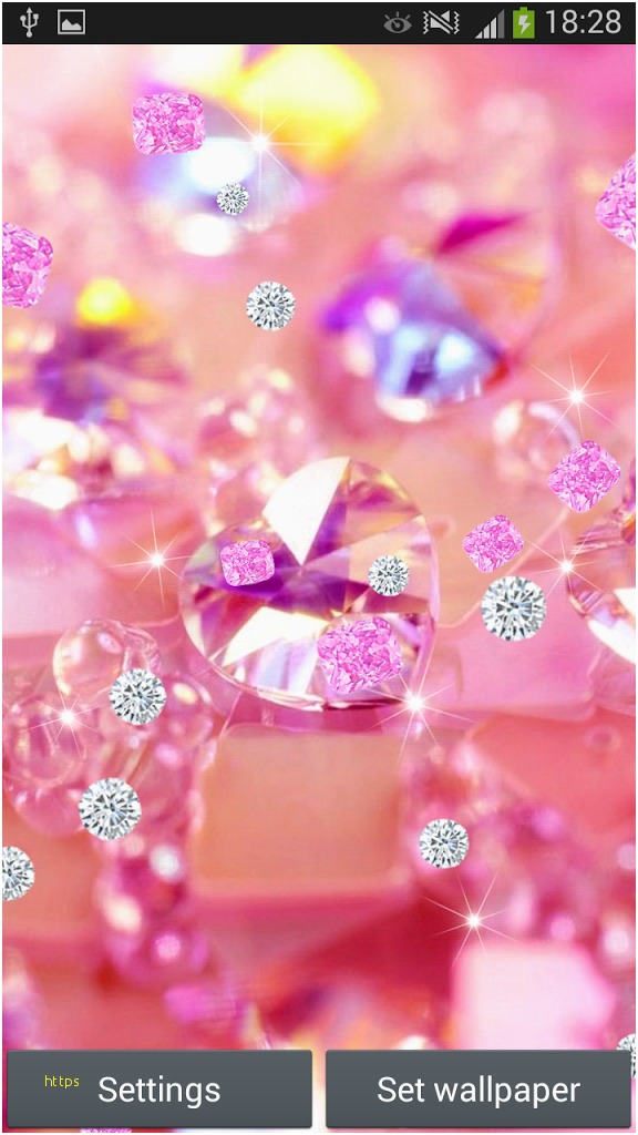 Do Live Wallpapers Drain Battery Luxury Pink Diamonds   Girly 576x1024